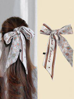 Floral Half Print Elongated Silky Scarf - Multi-c