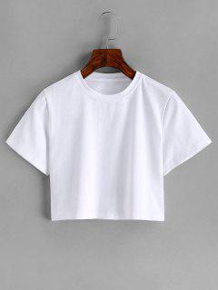 Grundlegendes Ernte T-Shirt - Weiß S