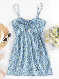 ZAFUL Mini Vestido Con Estampado De Flor - Azul Claro S