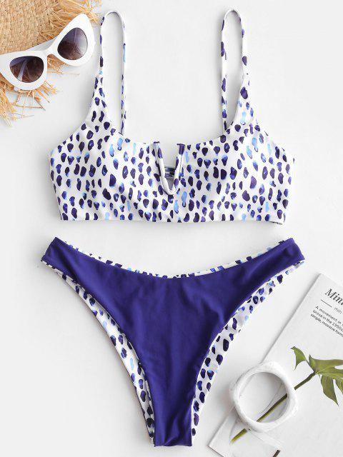 ZAFUL Conjunto de Bikini Reversible con Estampado de Animal - Multicolor-C M Mobile