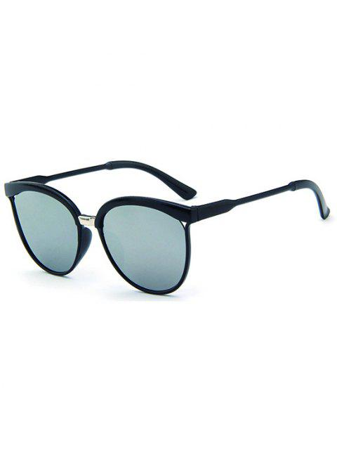 fashion Retro UV Protection Round Sunglasses - SILVER  Mobile