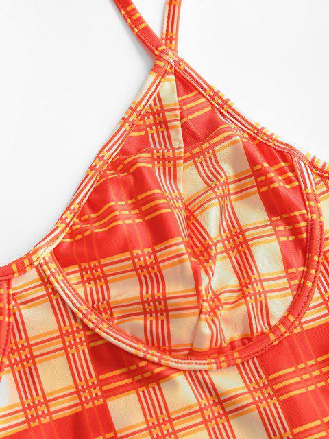 Camisole à Carreaux - Orange S Mobile