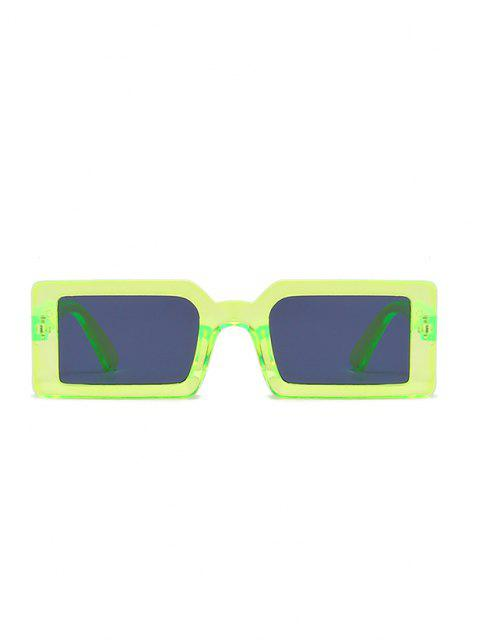 buy Retro Rectangle Street Sunglasses - LAWN GREEN  Mobile