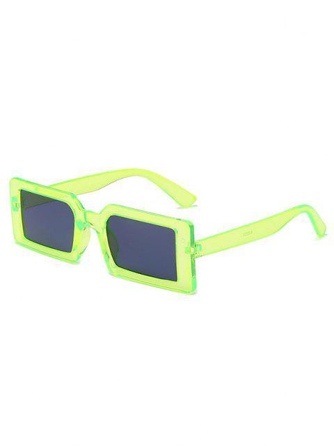 Retro Rectangle Street Sunglasses - العشب الأخضر  Mobile