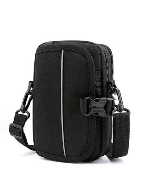 Mini Sac de Taille Décontracté Convertible Multifonctionnel - Noir  Mobile