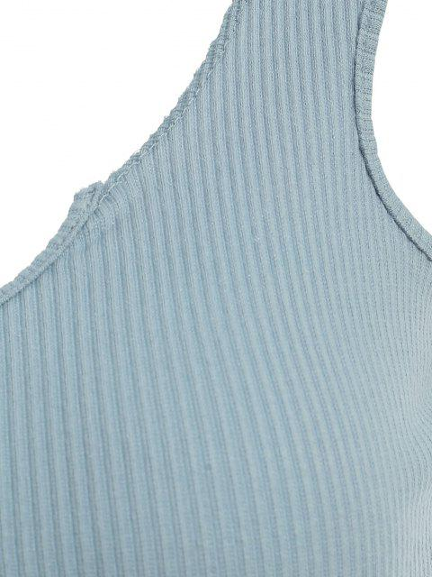 Débardeur Côtelé Court - Bleu clair M Mobile