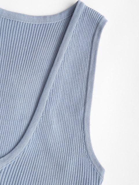 Débardeur en Tricot à Dos Nageur - Bleu clair Taille Unique Mobile