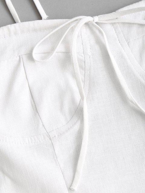 Haut à Bretelle Noué Plissé Au Dos - Blanc M Mobile
