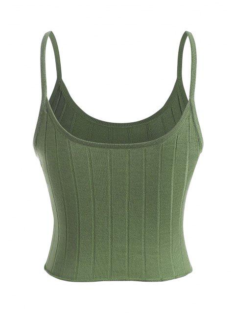 best Knitted Cami Top - GREEN ONE SIZE Mobile