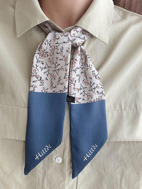 womens Ditsy Floral Print Versatile Elongated Silky Scarf - LIGHT GRAY  Mobile