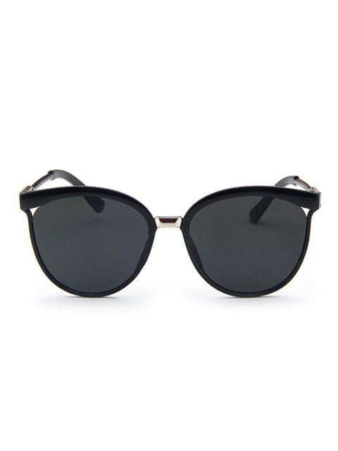 womens Retro UV Protection Round Sunglasses - BLACK  Mobile