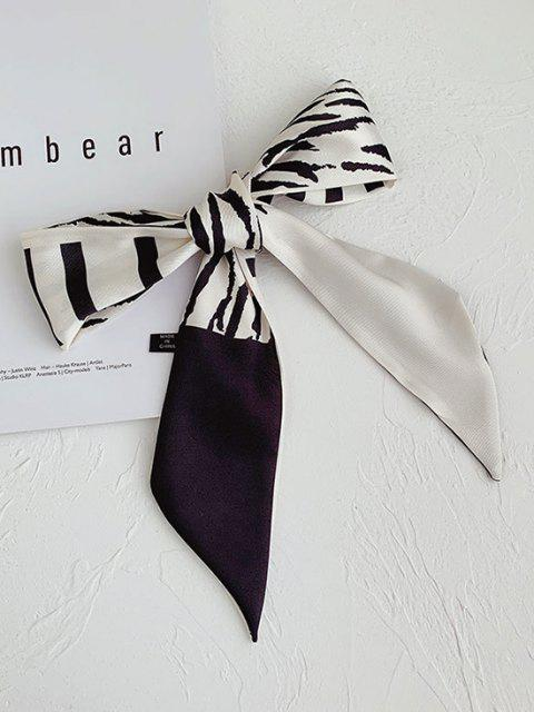 Seidiger Zebradruck Langärmliges Haar Schal - Multi-B  Mobile