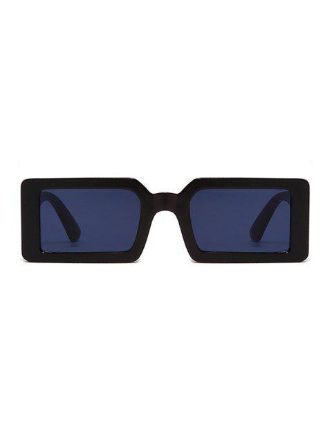 lady Retro Rectangle Street Sunglasses - BLACK  Mobile