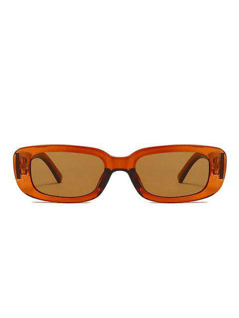 ladies Narrow Rectangle Retro Sunglasses - MAHOGANY  Mobile