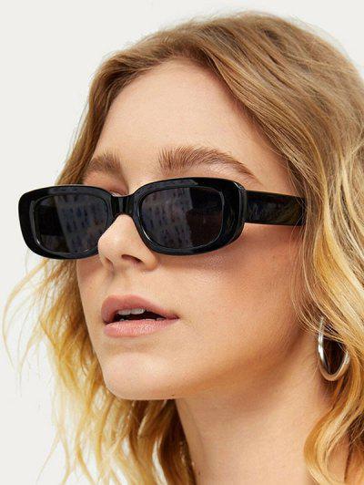 Narrow Rectangle Retro Sunglasses - Night