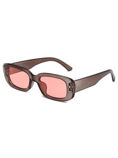 Gafas De Sol Rectangulares Retro - Gris Oscuro