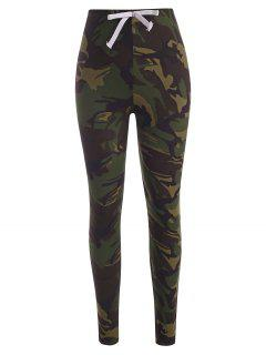 Side Striped Camo Skinny Pants - Acu Camouflage M