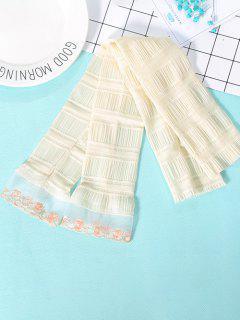Pleated Lace Sunproof Arm Sleeves - Beige
