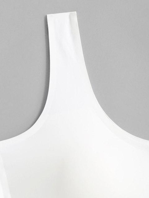 Übergröße Gepolsterter Stützverband Rückenkreuzter BH - Weiß 3X Mobile
