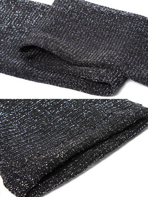 Glitter Schiere Maschen Halbschuh mit Bärenhose - Schwarz  Mobile