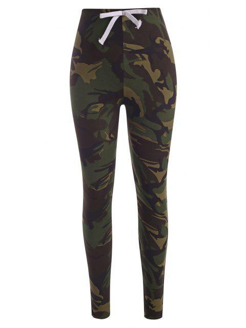 Pantalon Collant Camouflage Rayure Latérale - ACU Camouflage M Mobile