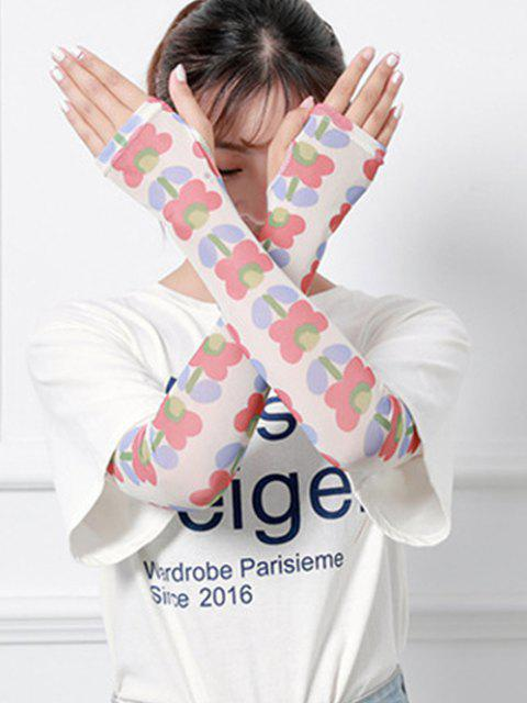 best Floral Print Sun Protection Stretchy Sleevelets - MULTI-G  Mobile