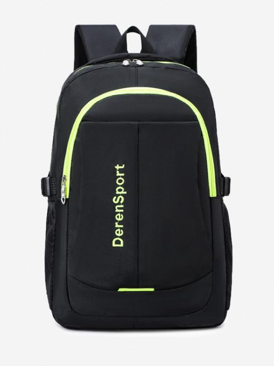 fashion Contrast Letter Pattern Sports Backpack - CHARTREUSE