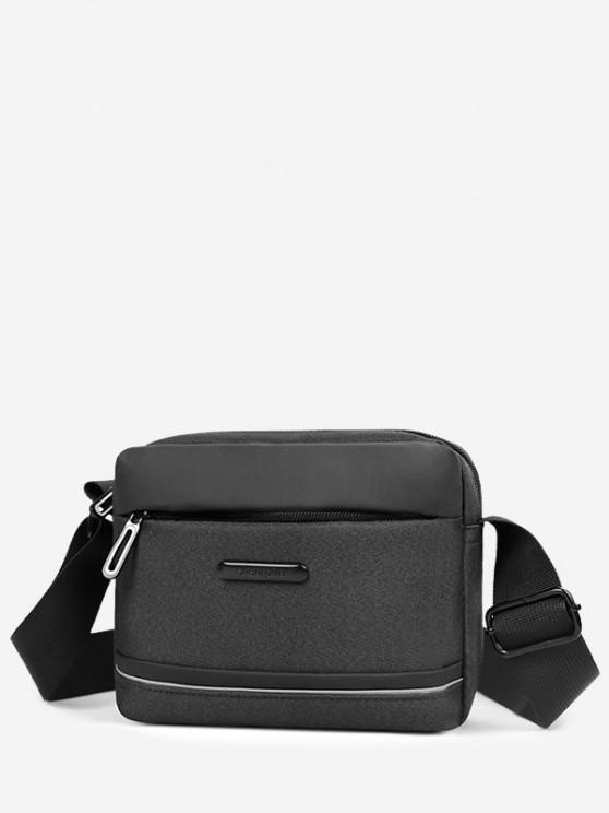 Business Waterproof Small Shoulder Bag - أسود