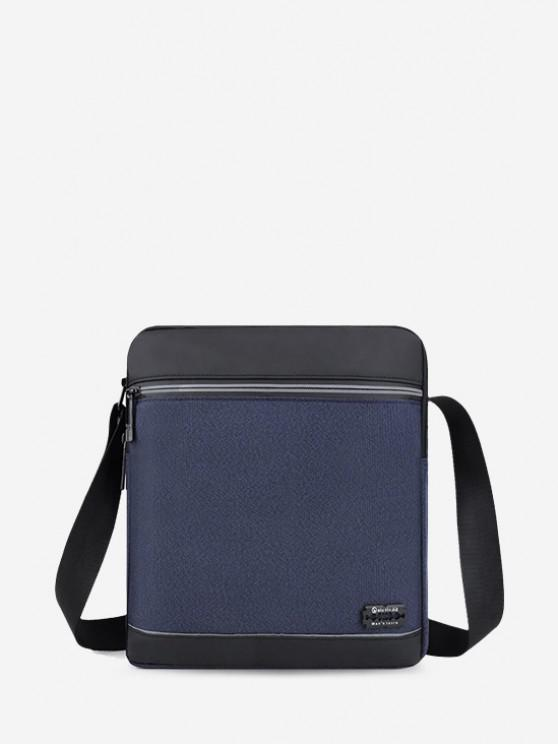 Business Waterproof Square Crossbody Bag - أزرق