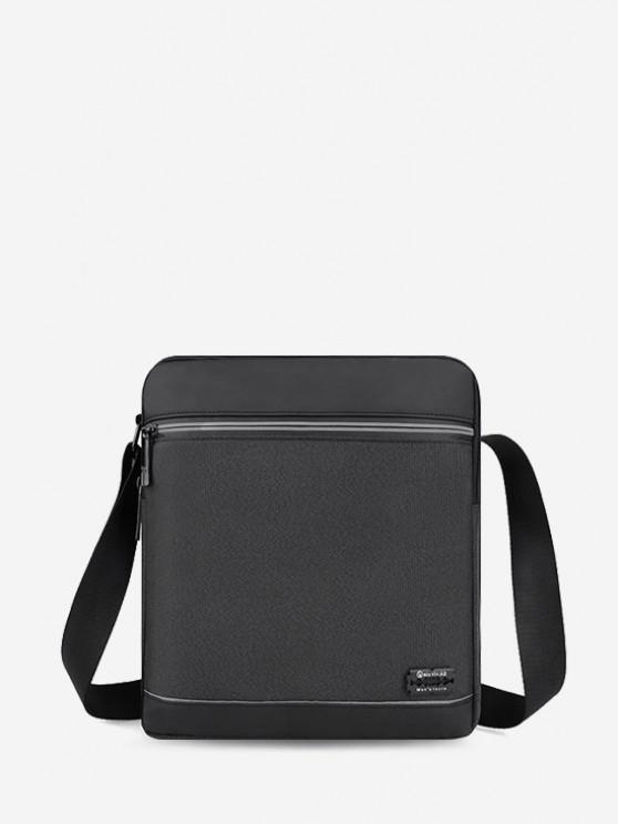 shop Business Waterproof Square Crossbody Bag - BLACK