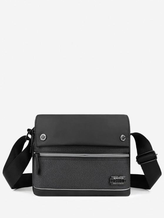 Leisure Business Waterproof Shoulder Bag - أسود