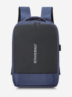 Sac à Dos Pour Ordinateur Portable à Imprimé Inscription - Bleu