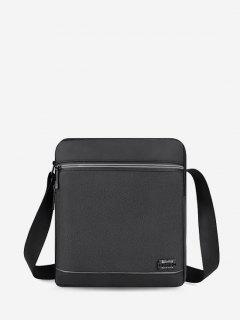 Business Waterproof Square Crossbody Bag - Black