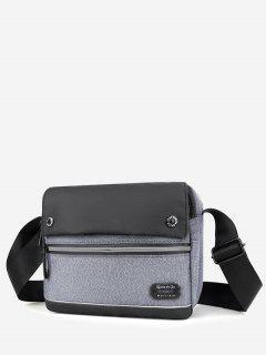 Leisure Business Waterproof Shoulder Bag - Light Gray