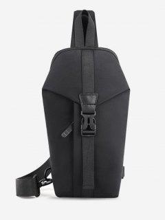 Lässige Multifunktion Reise Brusttasche - Schwarz