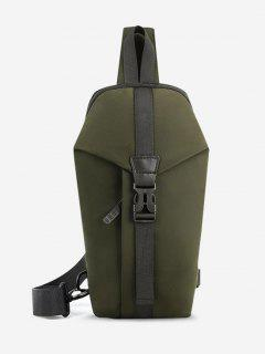 Casual Multi-function Travel Chest Bag - Jungle Green