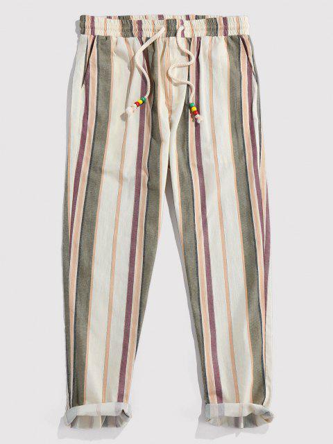 ZAFUL Pantalones Lápiz de Rayas Verticales - Champán XL Mobile