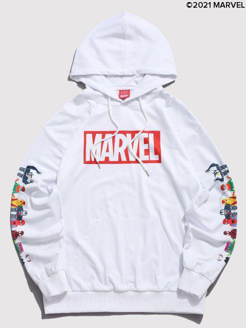 Marvel Spider-Man Spider-chica Venom Imprimir con capucha del bolsillo de canguro - Blanco M Mobile