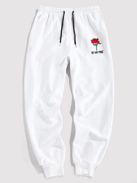 ZAFUL Pantalones Lápiz de Gráfico de Rosa - Blanco M Mobile