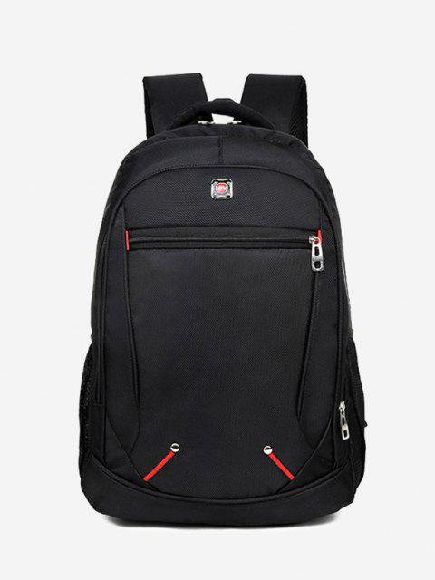 hot Travel Contrast Stitching Backpack - BLACK  Mobile