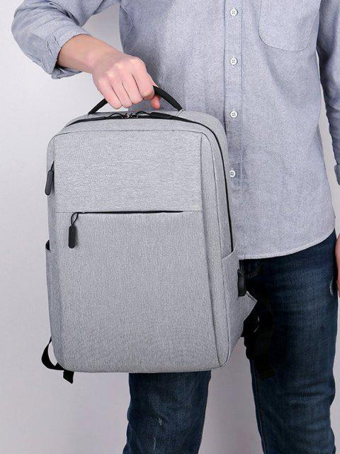 outfits Brief Rectangle Solid Sports Backpack - GRAY  Mobile
