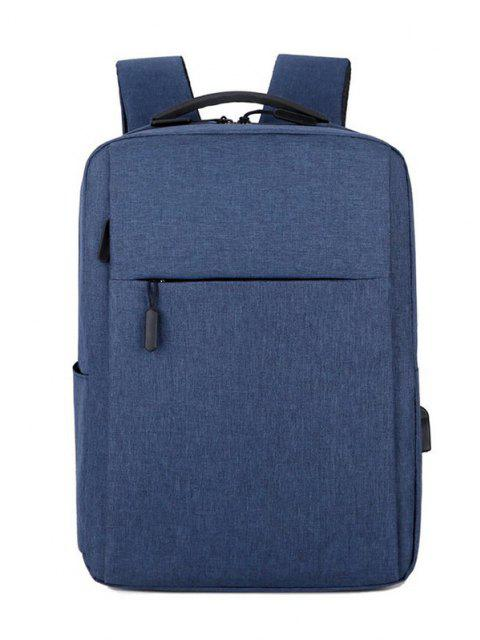 shops Brief Rectangle Solid Sports Backpack - BLUE  Mobile