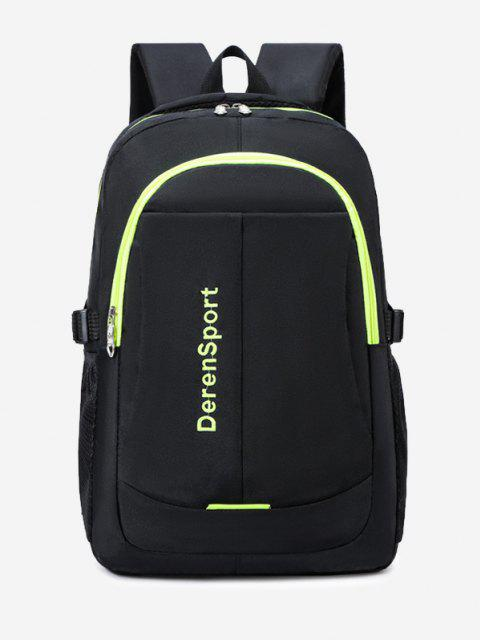 fashion Contrast Letter Pattern Sports Backpack - CHARTREUSE  Mobile