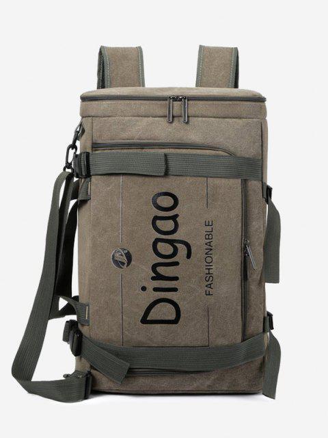 unique Letter Print Versatile Multi Strap Convertible Bag - CAMOUFLAGE GREEN  Mobile