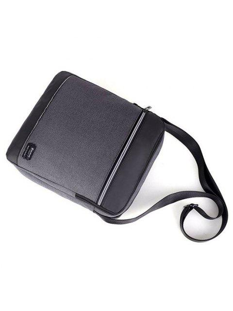 outfits Business Waterproof Square Crossbody Bag - DARK GRAY  Mobile