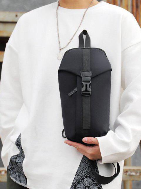 カジュアル多機能トラベルチェストバッグ - ブラック  Mobile