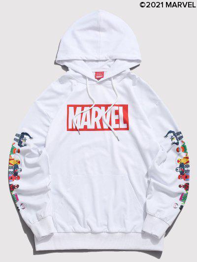 Marvel Spider-Man Spider-Girl Venom Stampa Kangaroo Pocket Con Cappuccio - Bianca S