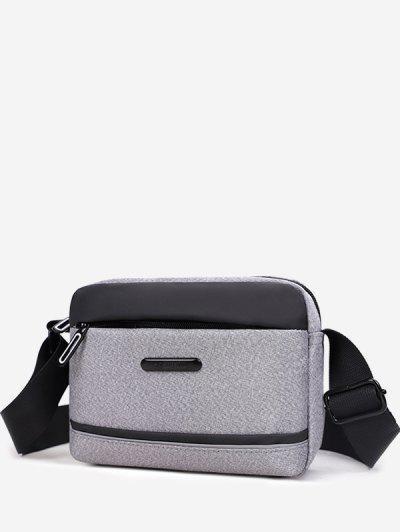 Business Waterproof Small Shoulder Bag - Light Gray