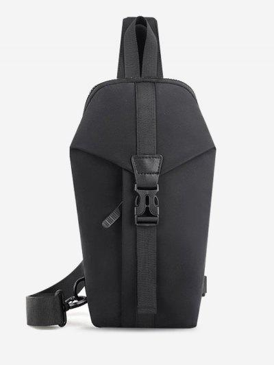 Casual Multi-function Travel Chest Bag - Black