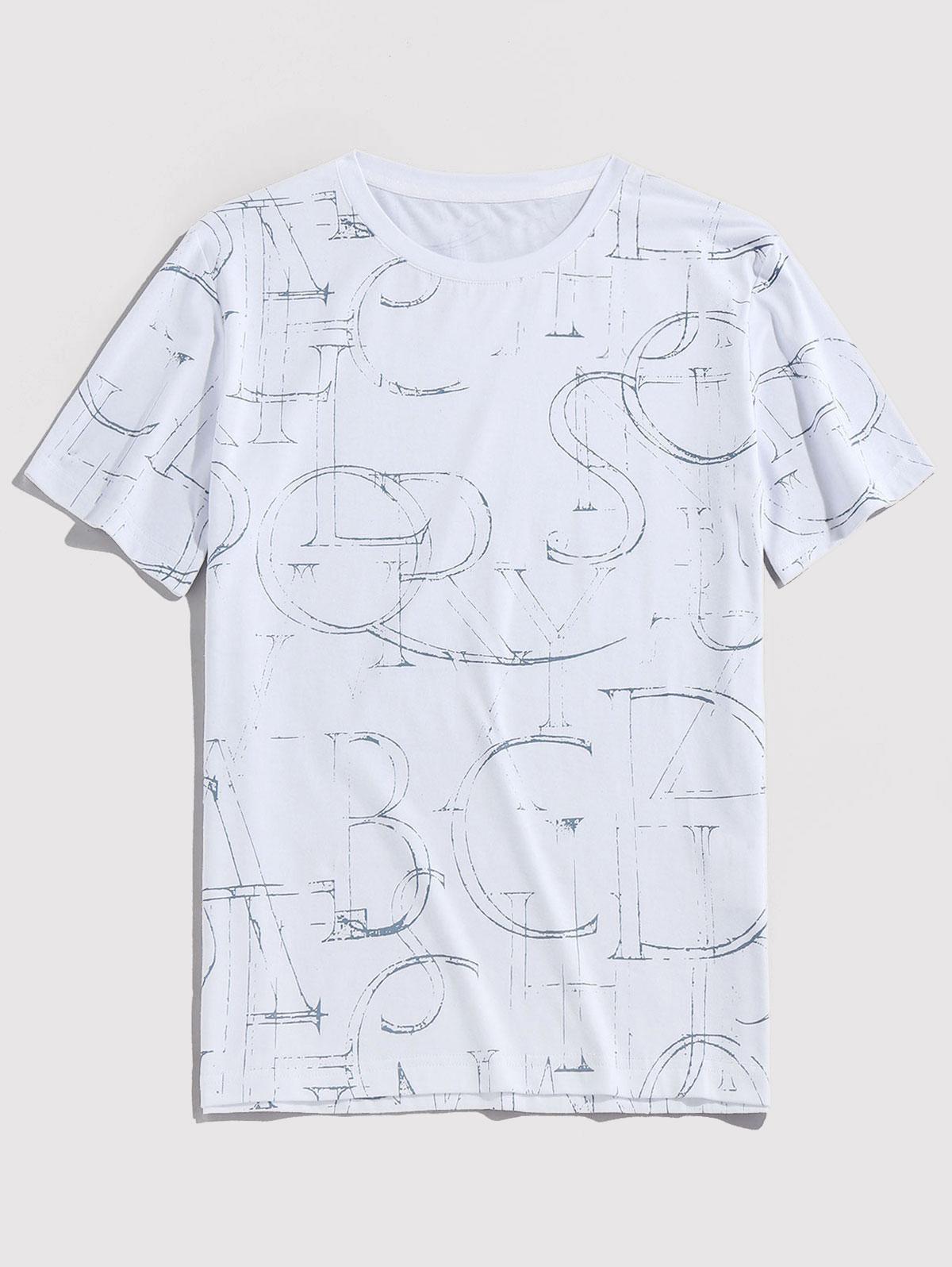 Fire Print Crew Neck Short Sleeve T Shirt